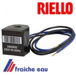 bobine d'électrovanne nouveau modèle  RIELLO 3006714 pour brûleur de la série PRESS 1 - 4G