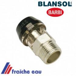 raccord push fit automatique 3/4 M BLANSOL  pex 20 x 2 mm, multiskin , connexion rapide type x press