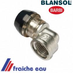 coude 3/4 F BLANSOL iX PRESS pour tube pex 20 x 3 mm raccord à glisser  par sertissage et étanchéité sans machine