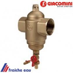 le filtre à boues GIACOMINI avec robinet de purge capture la magnétite nuisible à l'installation de chauffage