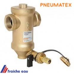 filtre PNEUMATEX pour capturer les boues de l'installation de chauffage , placement horizontal