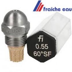 gicleur FLUIDICS cône SF-HF de 45°-60° - 80° de 0,45 à 0,50 gal/h tournai, huy, Arlon, Charleroi