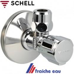robinet  d'arrêt Schell équerre filetage 1/2 M sortie 3/8 - 10 mm