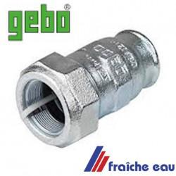 accouplement à bague serrante type presse étoupe pour tube 5/4 en plomberie