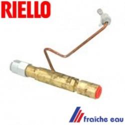porte gicleur RIELLO 3005995 pour brûleur MECTRON avec prise de pression , tube de ligne gicleur avec tube latéral