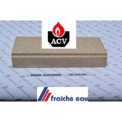 brique, ACV  isolation fond de foyer 51404008, brique arrière de chaudière mazout ACV type BNE 0 - 1 - 2