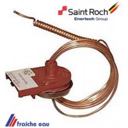 sécurité anti refoulement saint roch origine ranco à 100 °c , capteur de température de fumées , limite de température des gaz