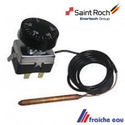 thermostat réglable de panneau, aquastat à capillaire universel pour chaudière saint roch  en fonte, couvin et ciney