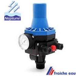régulation électronique de pompe NEPTUNE FS 25, pressostat de pompe avec manomètre de pression