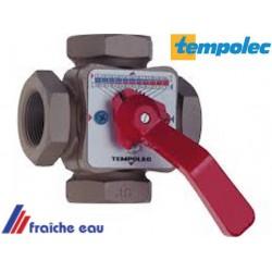 vane mélangeuse TEMPOLEC à 4 voies raccordement 3/4 FFF  pour circuit de chauffage et  charge de boiler