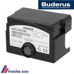 manager de combustion  BUDERUS LMO 54 200 C2 BU, relais, coffret de sécurité  pour brûleur à flamme bleue