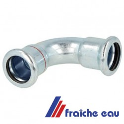coude acier zingué à sertir 35 mm 90° mâchoire type M