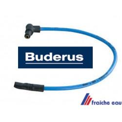 câble haute tension pour électrode d'allumage  BUDERUS avec fiche coudée article 63006890