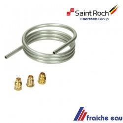 tube de veilleuse diamètre 6 mm de remplacement avec 3 écrous pour bloc gaz de chaudiere saint roch