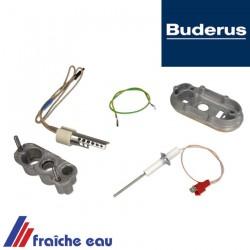 kit résistance d'allumage et  électrode d'ionisation BUDERUS  est d'entretien de chaudière art:  7736700318