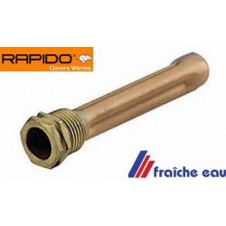 nouveau modèle en inoxydable plus résistant à la corrosion , doigt de gant pour chaudière RAPIDO F 110,