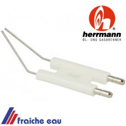 bloc electrode HERRMANN 1002500009 Doppelzündelektrode , bougie d'allumage haute tension