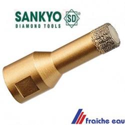 mèche diamantée, 12 mm trépan, scie cloche pour le forage à sec sans éclats dans le carrelage dur avec une disqueuse