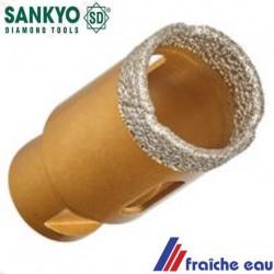 trépan, SANKYO à  couronne diamantée, scie cloche 27 mm forage à sec dans le carrelage dur, percement au diamant sans éclats