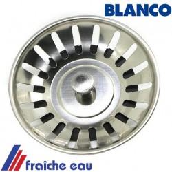 bouchon d'évier, tamis de crépine, diamètre 81 mm , panier de bonde BLANCO 117561  avec 18 fentes
