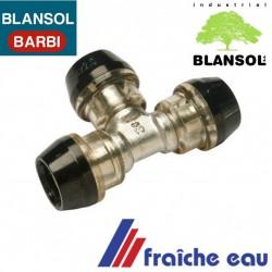 raccord TE inégal 20 x 16 x 16 BLANSOL pour tube multicouche, connection automatique par auto sertissage  pusch ix press