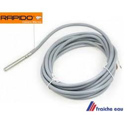 sonde de boiler, capteur de température de ballon sanitaire 506091 RAPIDO, speicherfuhler KVT 20 fur regelung