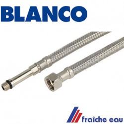 """flexible d'alimentation de robinet M10 x écrou 3/8"""" longueur 80 cm flexible de raccordement"""
