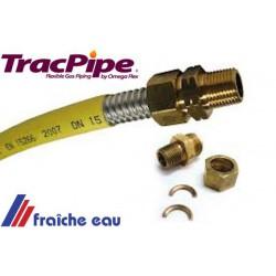 tube inox flexible  DN 22  pour application gaz butane et gaz naturel utilisation en  basse pression