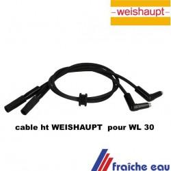 Weishaupt Câble d'allumage 24131011042 Pour: WL30, WL20C , passe câble rond