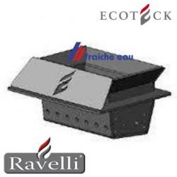 creuset en inox, cendrier , brasier réfractaire pour poêle à granules LIVIA ancien modèle  RAVELLI ECOTECK