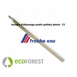 bougie de poêle et insert à pellets , ecoforest diamètre 9,52 mm longueur 152 mm 300 watts