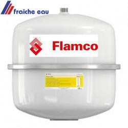 vase d'expansion solaire 18 litres FLAMCO   vessie butyle pour les panneaux solaires avec de l'eau glycolée
