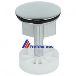 clapet de bonde / crépine lavabo chrôme  ø40 mm, soupape à tirette, vidange automatique d'évier