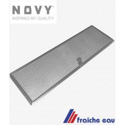 filtre  à graisse lavable au lave vaisselle 605.014 pour hotte NOVY  dimensions 500 x 153 mm