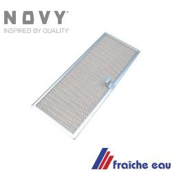 filtre  à graisse type 609-014 pour NOVY, lavable au lave vaisselle dimensions 387 x 153mm