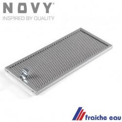 filtre à graisse  6050-020 de hotte de cuisine NOVY tamis de filtre lavable au lave vaissellle  dim : 325 x 153 mm