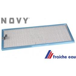 filtre , grille, tamis à graisses de hotte NOVY type 140.040 grille de hotte lavable dim: 387 x 153 mm