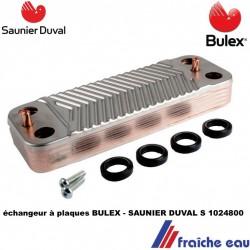 échangeur à plaque BULEX S1024800 assure la préparation de l'eau chaude  sanitaire dans la chaudière SAUNIER DUVAL en france