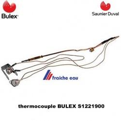 thermocouple avec capteur de sécurité par contac, S 1221900 BULEX- SAUNIER DUVAL en france, détecteur de flamme avec clikson