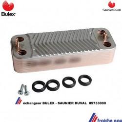 pour la production de l'eau chaude échangeur à plaques BULEX  et SAUNIER DUVAL 05733000