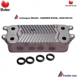 échangeur à 18  plaques BULEX  0020186154 et SAUNIER DUVAL préparation d'eau chaude sanitaire directe en continu