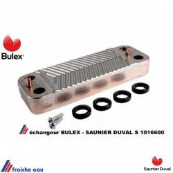 échangeur sanitaire à plaquespour la production d'eau chaude  sanitaire  BULEX S 10166000 , Saunier Duval