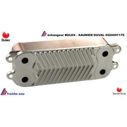 échangeur sanitaire à 14 plaques, BULEX 0020097179 , SAUNIER DUVAL, HERRMANN, préparateur d'eau chaude en continu