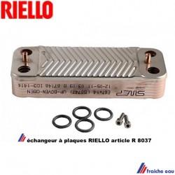 échangeur à plaques RIELLO  pour chaudière à condensation