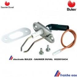 bougie d'allumage et ionisation BULEX  0020018434 pour chaudière murale à condensation