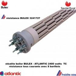 résistance de boiler,2400 watts tous courants BULEX 3241727 avec 8 barillets