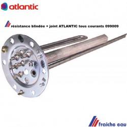 bride de boiler avec résistance immergée, pour chauffe eau Atlantic 099009 , raccordement toutes tensions