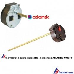 thermostat de boiler canne 6 mm longueur 275 mm pour  chauffe eau ATLANTIC  à enficher