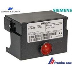 relais LANDIS / SIEMENS  LOA24-171 B 27 automate de combustion, bloc de contrôle  LANDIS