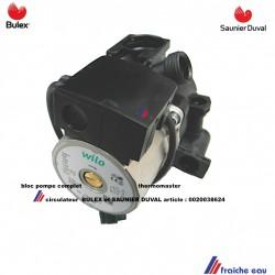 pompe de chauffage circulateur BULEX 0020038624 THERMOMASTER F25E et F29E complet avec purgeur Saunier Duval